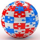 Illustration spherical puzzle Royalty Free Stock Photo