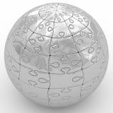 Illustration spherical puzzle Stock Image