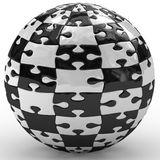 Illustration spherical puzzle Royalty Free Stock Photography