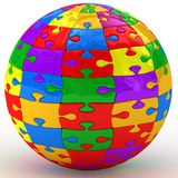 Illustration spherical puzzle Stock Photo