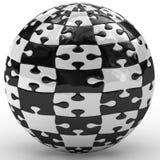 Illustration spherical puzzle Stock Photos