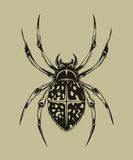 Illustration of spider Stock Images
