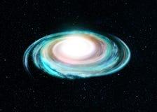 Illustration of Spiral Galaxy Royalty Free Stock Photo