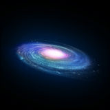 Illustration of a spiral galaxy Royalty Free Stock Photo