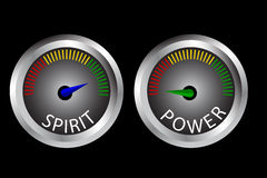 Illustration for Between Spirit and Power (high spirit low power) Stock Image