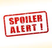 Spoiler alert text buffered stock illustration