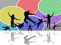 Illustration of sport silhouettes stock image
