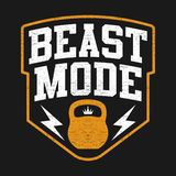 Illustration Sport Theme With Text BEAST MODE royalty free illustration