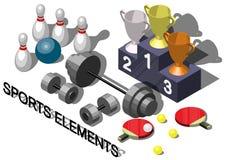 Illustration Sportausrüstungskonzeptes der Informationen des grafischen Lizenzfreie Stockfotos