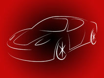 Illustration Sportscar Indicates Design Motorshow And Style Royalty Free Stock Photos