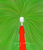 Illustration of spring girl Royalty Free Stock Images