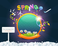 Illustration of Spring Sphere Template Royalty Free Stock Images