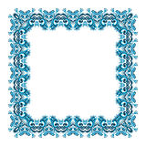 Illustration of a square frame from abstract element. On white background Stock Photography