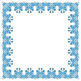 Illustration of a square frame from abstract element. On white background Royalty Free Stock Photography
