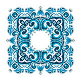 Illustration of a square frame from abstract element. On white background Stock Image