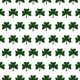 Illustration of a St. Patrick Day. Seamless pattern with clover leaves royalty free illustration