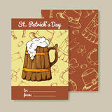 Illustration of St. Patrick`s day. Lucky poster.Vector background. Sweet lettering for card Royalty Free Stock Image