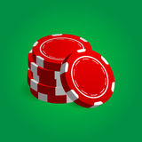 Illustration of Stack Red Poker Casino Chips. Realistic Illustration of Stack Red Poker Casino Chips Royalty Free Stock Photo