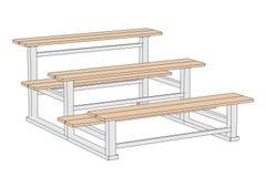Illustration of stadium bench Stock Photo