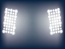 Illustration of stadium lights Royalty Free Stock Photos