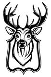 Illustration of a stag's head as a trophy Royalty Free Stock Photography