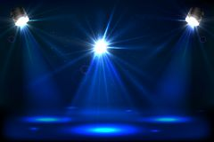 Stage Light. Illustration of stage for performance with spot light Stock Photography