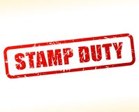 Stamp duty text buffered. Illustration of stamp duty text buffered on white background Stock Photo