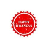 Illustration of a stamp for Happy Kwanzaa. Royalty Free Stock Photos