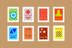 Illustration of stamps Royalty Free Stock Photos