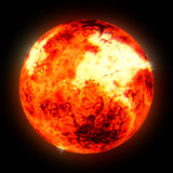 Illustration of star. 3d red illustration of star Royalty Free Stock Photography