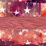 Illustration with stars Royalty Free Stock Images