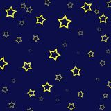 An illustration with stars on a dark blue background royalty free illustration