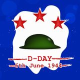 Illustration of U.S.A D-Day background vector illustration