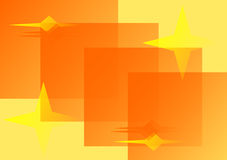 Illustration with stars in yel. Low and orange Stock Illustration