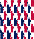 Statue of liberty seamless pattern Royalty Free Stock Photo