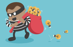Illustration Stealing a businessman good idea. Eps.10 Royalty Free Stock Images
