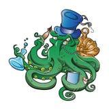 Illustration of Steampunk octopus Stock Photo