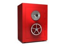 Illustration of steel bank safe over white background Stock Image