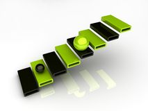 Illustration of steps with holes Royalty Free Stock Photo