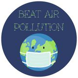 Illustration of a Sticker for World Environment Day. royalty free illustration