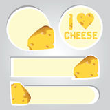 Illustration stickers of cheese Royalty Free Stock Images
