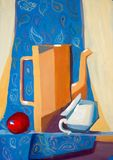 Painted illustration of still life royalty free stock photography