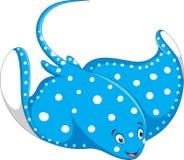Illustration of stingray fish cartoon Royalty Free Stock Images