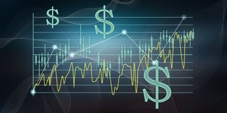 Concept of stock exchange. Illustration of a stock exchange concept vector illustration