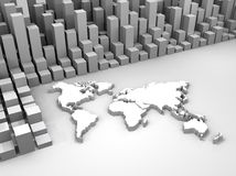 Illustration of stock trade around the world. 3d illustration of stock trade around the world Stock Image