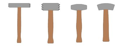 Illustration of stone hammers Royalty Free Stock Photo