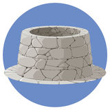 Illustration of a stone well Stock Photography