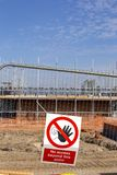 No access warning sign on building site UK Stock Images