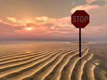 Illustration of a stop sign Royalty Free Stock Photos