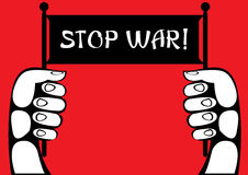 Illustration stop war poster  Stock Image